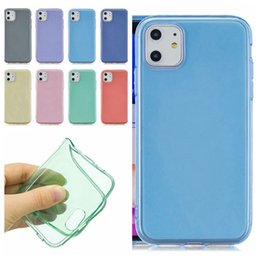 casos claros coloridos Desconto 1.5MM Transparent TPU Soft Case para Iphone 11 Pro Max Iphone XS MAX XR X 8 7 6 Plus colorido Clear Gel de silicone flexível tampa da pele do telefone