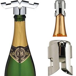 Sello de vacío tapón de champán online-Botella de Champagne tapón del vino de acero inoxidable tapón del vino de Champaña Cap Bar Restaurante Vino sellado al vacío Caps