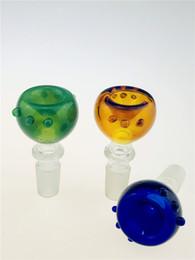 Fiore notizie online-NEWS SAML ciotole schermo ciotola vetrino fiore per i tubi di acqua e vetro bong fumatori ciotole dimensione comune 18,8 millimetri 14,4 millimetri PG5077