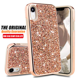Premium bling 2 in 1 di lusso con strass brillanti per iPhone XR XS MAX X 8 7 6 Samsung Note 9 da