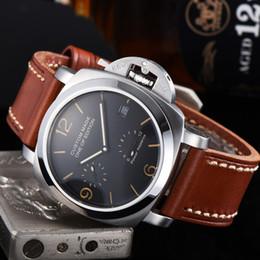 ver la fecha de reserva de potencia mecánica Rebajas automáticos de los hombres del reloj reloj mecánico luminoso impermeable fecha Reserva de marcha de acero inoxidable de cuero 42MM NH633