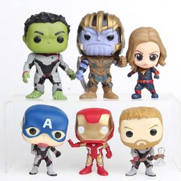 toy doctor doll Promo Codes - 2019 Superhero Action Figures Toys 7cm Marvel Avengers 4 Infinity War PVC Collection dolls Hulkbuster Iron Man Doctor Strange Kids Toys C32