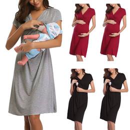 Annelik Kısa Kollu Hemşirelik Bebek Emzirme Gecelik Gebelik Elbise analık elbiseler MM625 supplier short nightdress nereden kısa gece giyimi tedarikçiler