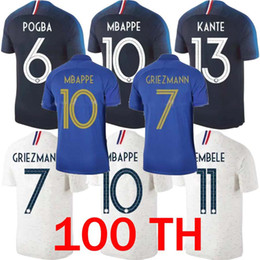 9c8ce6e61 2 stars 2019 European Cup ZIDANE MBAPPE UMTITI Soccer Jersey GRIEZMANN  POGBA PAVARD Shirt 19 20 KANTE 100th anniversary football Uniform