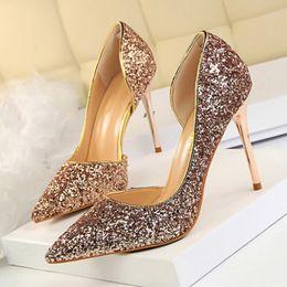 2019 laranja casamento sapatos nupcial Mulheres de charme Bombas Extrema Sexy Sapatos de Salto Alto Mulheres Sapatos de Salto Fino Sapatos Femininos Apontou Toe Sapatos de Casamento