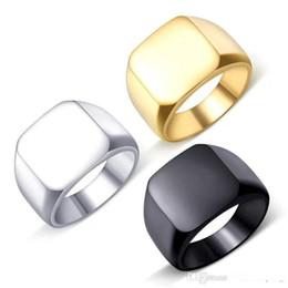 2020 anillos de plata de ley para niños Vintage Mens Boys plata fina color Acero inoxidable 316L Anillo de la joyería del motorista sólido Signet pulido de los hombres rebajas anillos de plata de ley para niños