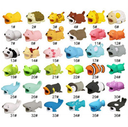 Hot dog telefon online-Cable Bite Animal Bite Cable Protector Accessory Toys Cable Bites Dog Pig Panda For Phone Charger Cord Hot 36styles RRA1558