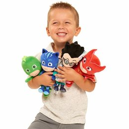PJ Masks Plush Toys 4 stili 20-23cm PJ Cartoon Catboy Owlette Gekko Cloak Masks giocattoli di peluche PJ maschere peluche bambole regalo di natale per i bambini da stand pokemon fornitori