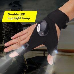 2019 schwarze lichter zum angeln Schwarz One Size Autoreparaturarbeiten Outdoor Angeln Überleben Werkzeuge Kreative Wandern LED-Licht Finger Beleuchtung Handschuhe günstig schwarze lichter zum angeln