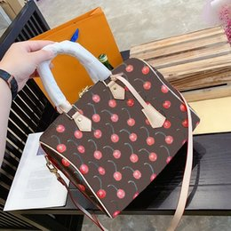 fashion trends handbags Promo Codes - Designer handbag trend brand women's bag fruit element printing design pillow type high quality women's bag 30 CM designer shoulder bag