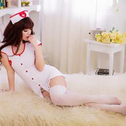 2019 costumi da camera 1 Set Sexy Costumi Roleplay Fancy Hot Bedroom Infermiera Costume Infermiera Vestito Sexy Lingerie costumi da camera economici