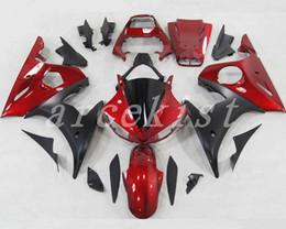 2019 kit de carenado yamaha r6 personalizado Nuevos carenados de plástico ABS ajuste para los carenados Yamaha YZFR6 2003 2004 2005 kit de carrocería carenado YZF R6 03 04 05 rojo de encargo negro kit de carenado yamaha r6 personalizado baratos