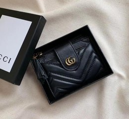 2019 carteras nuevas 2018 nuevas carteras de diseñador de marca de cuero genuino para mujeres monederos bolsos de embrague con titular de la tarjeta estilo largo con caja rebajas carteras nuevas