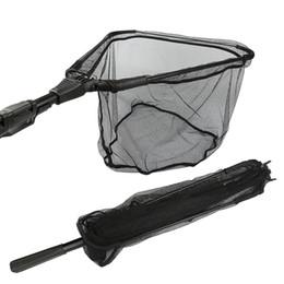 Ligas de alumínio fundido on-line-Redes de pesca de Liga de Alumínio Rede de Pesca Dobrável Telescópico Dobrável Pólos de rede de pesca rede de pesca rede de Pólo de fundição
