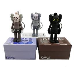 Figura ação rua on-line-KAWS BFF Chaveiro Tendência boneca Brian Street Art PVC Action Figure Versão Limitada Coleção Modelo Brinquedo Presente Encantos Encantos