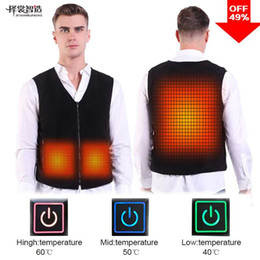 vest hunting Promo Codes - PINJIA USB Vest Heated Jacket Waistcoat Self Heating Clothing for hunting outdoor(SV03)