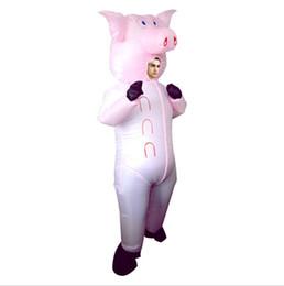Homens Mulheres Halloween Engraçado Sequestrado por Aliens Cosply Trajes Masculino Feminino Engraçado porco Traje Da Mascote Trajes de Roupas infláveis mascote cheap pig mascot costumes de Fornecedores de trajes de mascote de porco