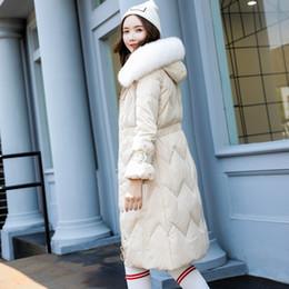 color de pelo largo coreano Rebajas Female Down Garment 2019 Nueva edición coreana de autocultivo de Long Female Down Garment con pelo de zorro