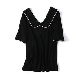 Suéteres de mujer diseños de cuello online-Top Design! 2019 Nueva llegada de la oficina de la señora suéter base blusa mujeres envío gratis HMR19747JUL2
