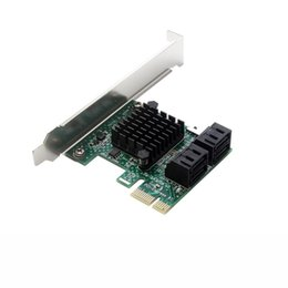 2019 controladores sata PCIe PCI Express para 6G SATA3.0 Adaptador de Placa de Expansão SATA III de 4 Portas para Windows Mac Linux desconto controladores sata