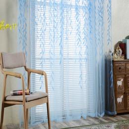 ролик дистанционного управления Скидка Willow Pattern Tulle Curtains Modern Curtains For Living Room Transparent Tulle Window Drapes Sheer For The Bedroom