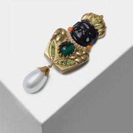 Spille in stile indiano online-Amorita Boutique Indian Style Figura Spilla Spilla pendente con perle J 190513