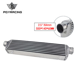 intercooler turbo Rebajas PQY - 550 * 140 * 65 mm Placa de barra del intercooler turbo universal OD = Intercooler de montaje frontal de 2.5