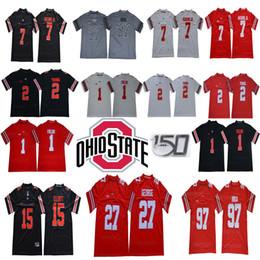 2020 camisetas de fútbol del estado de ohio 150 TH Ohio State Buckeyes 1 Justin Campos 2 Chase Young 7 Dwayne Haskins Jr. 27 Eddie George 97 Nick Bosa 15 Elliott NCAA Football jerseys rebajas camisetas de fútbol del estado de ohio