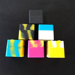 2019 caixa de silicone dab 9 ML bloco de Silicone Non-stick Jars Dab Recipiente Para Vaporizador FDA Food Grade Silicone Box Wax Recipiente caixa de silicone dab barato