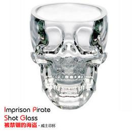 Cristal Cristal Esqueleto Humano Cabeza Aumento de la Copa de Licor Engrosamiento Mini- Importado Vino Hueso Vaso Personalidad Regalo Whisky Copa de Vino desde fabricantes