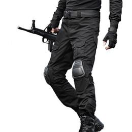 Joelho pad carga calças on-line-Tactical Pants Carga Calças Homens Camuflagem Pantalon Sapo Joelheiras Trabalho Calças Do Exército Caçador Swat Combate Calças