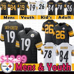 5ea0edeffbd half jersey Coupons - 19 Juju Smith-Schuster Steelers Jersey Mens Youth  Pittsburgh 84 Antonio