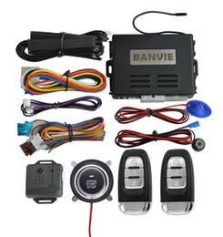 BANVIE PKE Sistema de alarme de carro com partida remota do motor e acionamento do botão de parada de partida do motor e entrada passiva sem chave cheap car passive keyless entry de Fornecedores de entrada passiva sem chave do carro