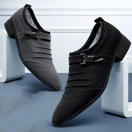 новый стиль офис повседневная обувь Скидка Men Dress Shoes Classic Business Office Oxford Shoes For Men 2018 New Casual British Style Man Flats Plus Size 38-48