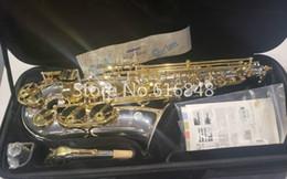 Canada Jupiter JAS 1100SG Nouvelle Marque Alto Eb saxophone Laiton Plaqué Argent Corps Laque Or Sax Instrument de Musique Livraison Gratuite cheap eb silver Offre