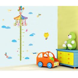 Carousel Duvar Çıkartması Çocuk Odası Sanat Çıkarılabilir Karikatür Sticker 60 * 90cm Size fantastik bir hayal dünyasına getiriyor. nereden baykuş kreş oda çıkartması dekor tedarikçiler