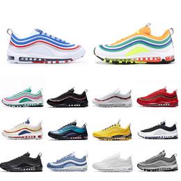 2019 рефлексивные кроссовки Nike Air max 97 shoes 97s Laser Fuchsia running shoes for men women 3m reflective LONDON SUMMER OF LOVE triple black mens trainer fashion sports sneakers runners скидка рефлексивные кроссовки