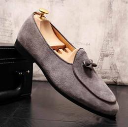 2019 New Scrub scarpe eleganti da uomo mocassini Bow scarpe casual da sposa zapatos hombre vestir taglia US 6 10