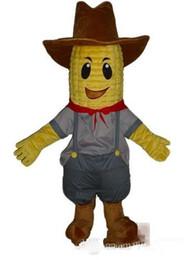 2019 costume de maïs Costume de mascotte personnalisé M. Corn livraison gratuite costume de maïs pas cher