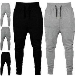 ef70fd3561f Mens Athletic Elastic Waist Pants Solid Color Pantlones Designer Zipper  Decorative Beam Pants Joggers Sweatpants Clothing for Men Track Pant