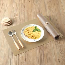 manteles impermeables Rebajas Cocina para el hogar Placemats de PVC Respetuoso del medio ambiente Estera de tabla del PVC Resistente al calor Comedor del lugar Manteles Duraderos Almohadillas impermeables BH0041