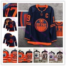 2019 mcdavid jersey s Edmonton Oilers 2019-2020 Third Jersey 97 Connor McDavid 29 Leon Draisaitl 99 Wayne Gretzky 93 Ryan Nugent-Hopkins Hockey Jersey rabatt mcdavid jersey s
