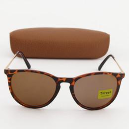 Caja de tortuga online-1 unids Nuevo Txrppr Gafas de sol de lujo Hombres Mujeres Moda Gafas Diseñador de la marca Gafas de sol Tortuga Marco de oro / Caja de lentes Brown UV400