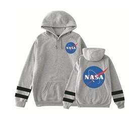 mulheres de camisola com capuz preto Desconto Designer Homens Mulheres Hoodies Hip Hop Black White NASA manga comprida camisola com capuz de algodão camisas com capuz Mens Moletons Plus Size XS-4XL
