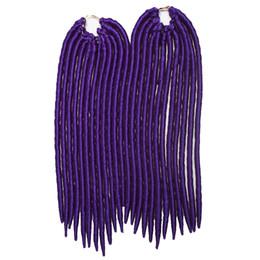 Tresses synthétiques déesse de cheveux Faux Locs Crochet Twist tresses 14 pouces 115g Doux Dreadlocks Kanekalon Extensions de Cheveux 24 Strands / pack ? partir de fabricateur