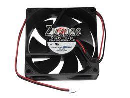 2020 fans superred SUPERRED 80x80x25mm CHA8024EBN-O-R 8cm 24V 0,24A 2Wire 80mm variateur de ventilateur CHA8024EBN-K (E) fans superred pas cher