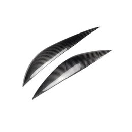 mercedes benz lights Coupons - Fashion Design Carbon Fiber Car Hood Light Headlight Eyebrows Stickers Accessories For Mercedes Benz C Class W204 C180 C200 C260 C300 C350