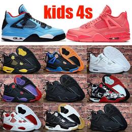 Massagem meninos negros on-line-Genuíno JD 4s OG Gato Preto Tênis de Basquete Refletir Para crianças Meninos Meninas Esportes Treinamento Tênis Massagem Blackcat Big Kids Shoes 28-35