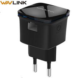 Amplificador amplificador repetidor wifi on-line-Wavlink Mini Sem Fio Wi-fi Repetidor 300mbps Rede Wi-fi Impulsionador Amplificador de Alcance Extensor de Alcance Wi-fi Router Repetidor Nos Plug T190619