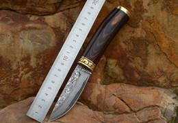 couteaux de camp forgés à la main Promotion Couteau en acier damas, couteau droit forgé à la main, couteau de camping pour collection de couteaux de plein air de haute dureté